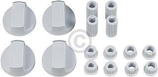 Lot de 4 boutons de rechange universels pour cuisinière - Avec adaptateurs - Diamètre : 38 mm - Blanc - Pour four