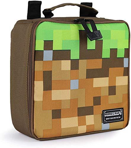 Minecraft - Fiambrera/Bolsa para la comida oficial modelo Pixelated Grass para niños/niñas