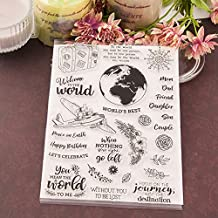 World Earth Airplane Transparent Clear Silicone Stamp Seal for DIY Scrapbooking Photo Album Decorative Card Making