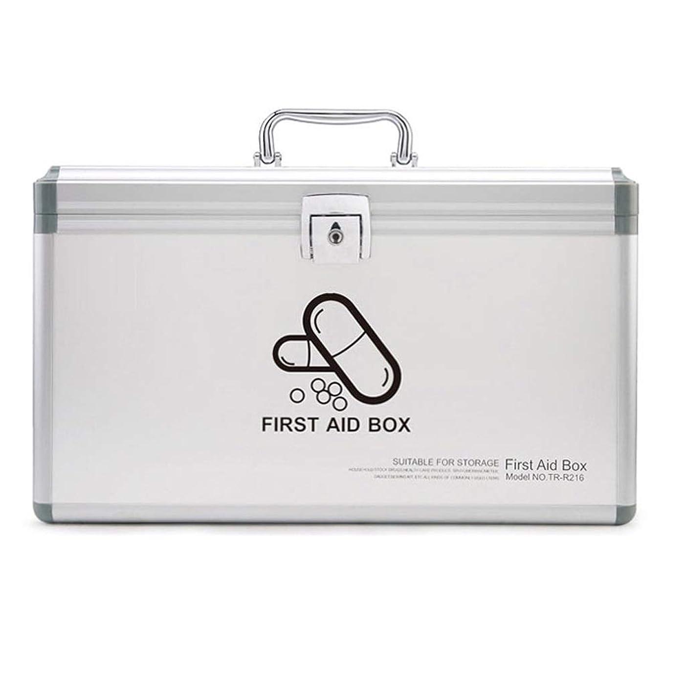 モトリー提案するミットDjyyh ロックできる2つの層の医療用箱、応急処置箱の緊急の薬の箱薬の収納箱 (サイズ さいず : S s)