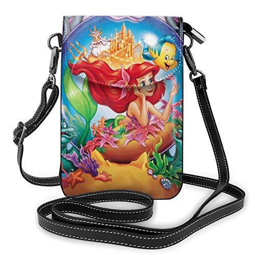 XCNGG Monedero pequeño para teléfono celular Mermaid Cell Phone Purse Shoulder Bag Travel Daypack Women Girls Party Gift