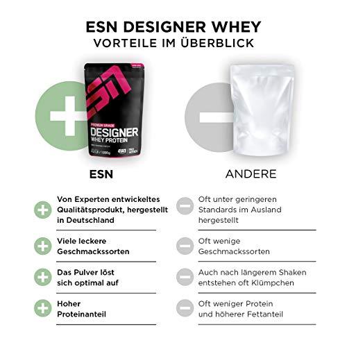 ESN Designer Whey Protein, Pro Series, Vanilla, 1er Pack (1 x 1000g Beutel) - 3