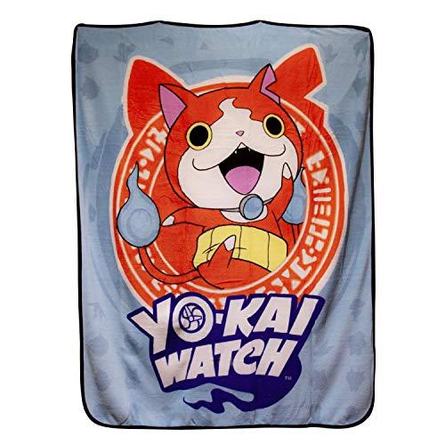 Yo-Kai Watch Jibanyan Lightweight Fleece Throw Blanket | 50 x 60 Inches