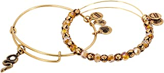 Alex and Ani Womens Snake with Crystal Bracelet Set of 2