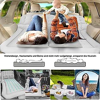Matelas Gonflable Voiture SUV avec Pompe, Pliant Lit Air gonflable, Confortable surface floquée pour Camping Voyager extérieur Idéal pour Le Repos de Sommeil et Le Mouvement Intime