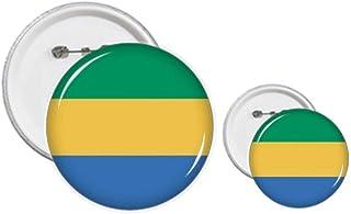 Kit de création de boutons et épingles, drapeau national du Gabon, Afrique, pays