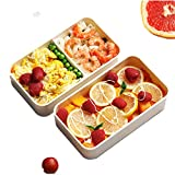 La nouvelle boîte à lunch double épaisseur et grande capacité convient aux...