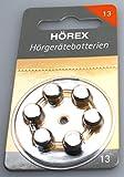 Hörgerätebatterien Größe 13 6 Stück Hörex...