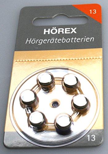 Hörex Hörgeräte Batterien Basic Größe 13er (orange) 1 Blister