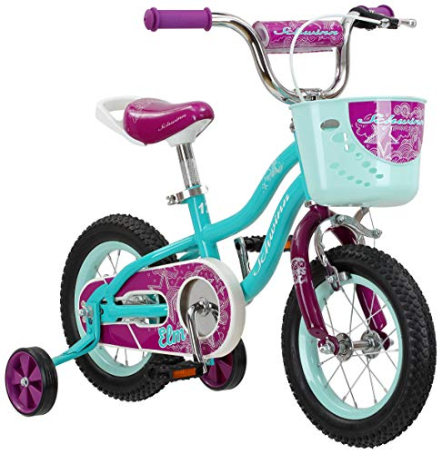 Schwinn Elm Girls Bike for Toddlers and Kids, 12-Inch Wheels, Teal
