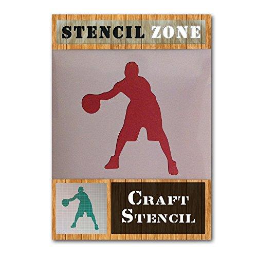 NBA Deporte Jugador de Mylar aerógrafo Pintura Mural Art Crafts de la plantilla 2 (A3 Tamaño de la plantilla - Media)