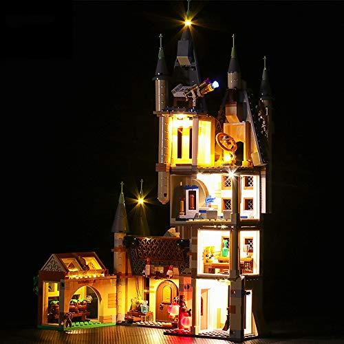 Juego De Luces LED para Lego 75969, Kit De Iluminación Decorativa De Bricolaje Compatible con Ladrillos De Bloques De Construcción De La Torre Hogwarts De Harry Potter (No Incluye Modelo)