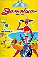 ジャマイカ島オーシャンビーチ、ティンサインヴィンテージ面白い生き物鉄の絵の金属板ノベルティ