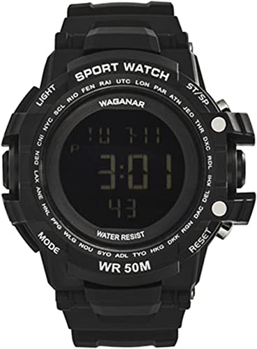 popular WAGANAR Men's Digital Sports Watch, Dual sale Time Display, Large Face online Outdoor Waterproof Military Chronograph Wrist Watch for Men with Multi-Function Army Stopwatch online