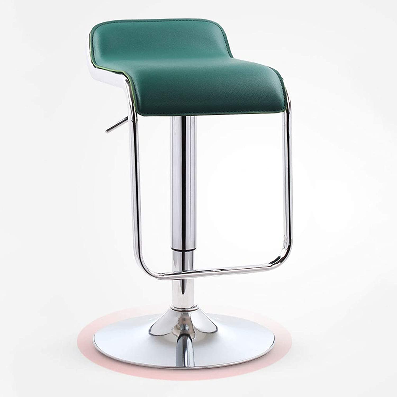 CHX Bar Chair Lift Home Bar Stool High Stool Bar Chair redating High Stool Modern Minimalist Bar Chair V (color   Dark Green)