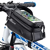 """WOTOW Bicycle Phone Mount Bag, Waterproof Bike Front Touch Screen Cell Phone Holder Top Tube Frame Handlebar Cycling Accessories Bag Sensitive Reflective Fits for iPhone 12 Xs Max Pro Plus Up to 6.7"""""""