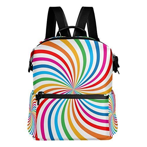 TIZORAX Rainbow Spiral Sac à Dos d'école College Sacs Sac à Dos Bookbags pour Teen garçons Filles