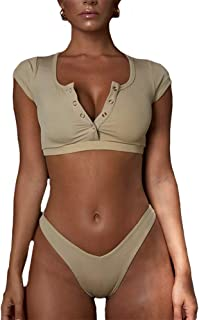 khaki thong bikini