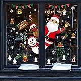 Pegatinas Navidad para Ventanas, Pegatinas de Navidad, Pegatina Copo de Nieve,Decoración ...