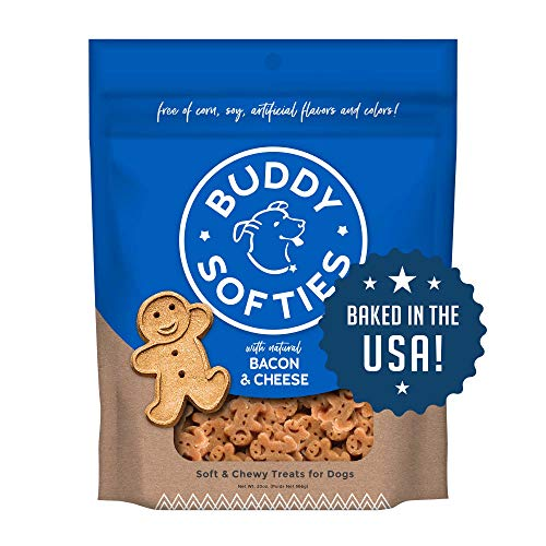 Buddy Biscuits Soft & Chewy Healthy Dog Treats with Bacon & Cheese - 20 oz.