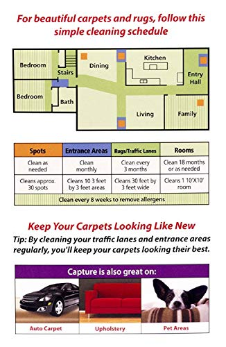 Capture Carpet Cleaner 4 lb - Dry Carpet Cleaner and Area Rug Cleaner, Carpet Cleaning Powder to Deodorize Pet Stains Smell Odor and Moisture Too