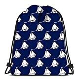 Drawstring Backpack Sport Bags Cinch Tote Bags Travel with Sailing Vessel Marine Tourism Concept For Traveling and Storage