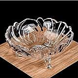 Hengguang - Frutero de cristal grande para el hogar, cubo de frutas, plato de...