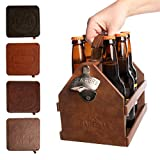 Tailgate Beer Caddy with Bottle Opener & Coasters for Drinks Beer Holder 6 Pack Square Coaster Set Beer Caddies