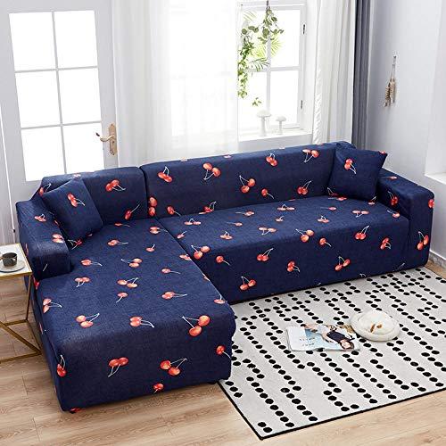 Anoauit Four Seasons Printing Universelle elastische Sofabezug All-Inclusive rutschfeste Universal-Kombi-Sofabezug Handtuch-2_4 Sitzer 235-300cm