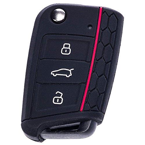 CARINGA Cover Scocca gomma silicone Coprichiave per VW Polo 6c Golf 7 GTI RLine Volkswagen TSI TDI DSG