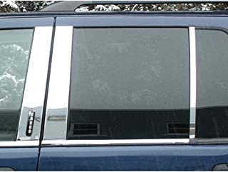 QAA FITS Explorer 2002-2010 Ford (6 Pc: Stainless Steel Pillar Post Trim Kit w/keyless Entry Access, 4-Door, SUV) PP42642