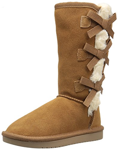 Koolaburra by UGG unisex child Victoria Tall Fashion Boot, Chestnut, 4 Big Kid US