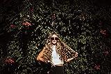 dxycfa Kit de pintura digital de bricolaje decoración de arte de pared regalo de recuerdo chica rubia rizada con gafas de sol 40x50cm sin marco