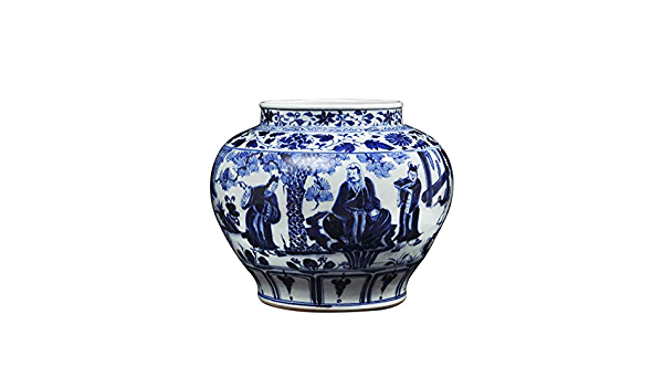 مزهرية ديكور منزلي من الخزف الصيني القديم باللون الأزرق والأبيض من الخزف الصيني الجديد لتزيين المنزل حفلات الزفاف حفلات فنية وحرف فنية Amazon Ae