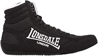 Lonsdale Mens Laced Quilted Mid Cut Contender Boxing Boots