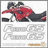 2pcs Adhesivo Compatible con Motocicletas F650 GS BMW Motorrad F 650 f650gs (White)