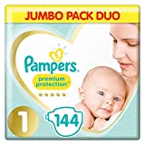 Pampers Premium Protection Soft Comfort Pannolini Jumbo Pack approvato dalla British Skin ...