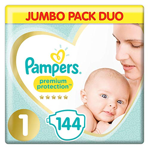 Pampers Couches pour bébé taille 1 - Pack de 2x72