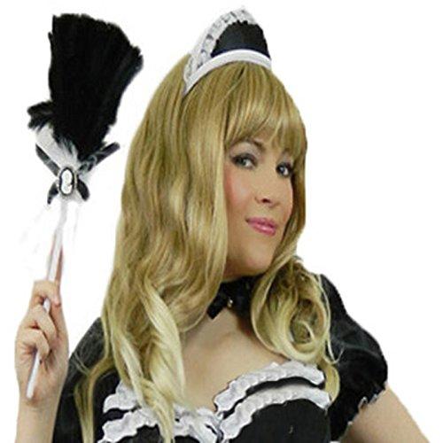 Yummy Bee - Coiffe de Soubrette Femme - Serveuse Chapeau Femme de Ménage - Déguisement Adulte Rocky Horror Show Noir