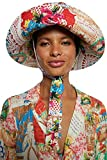 Desigual Hat_CRAFTPATCH Cappello da Sole, Bianco, Taglia Unica Donna
