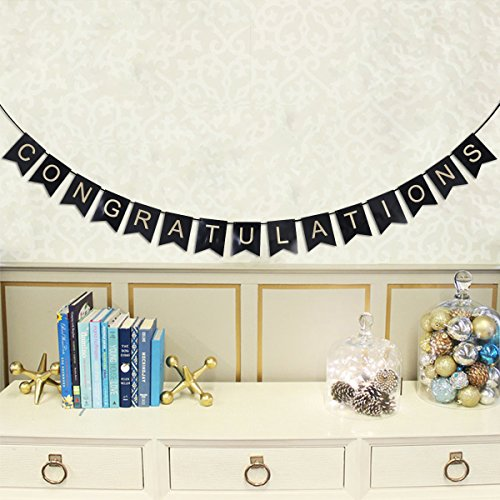 LUOEM Graduation Party Decoration, Graduation Photo Booth Props Congratulations Banner for Graduation Party Favors Supplies Decorations