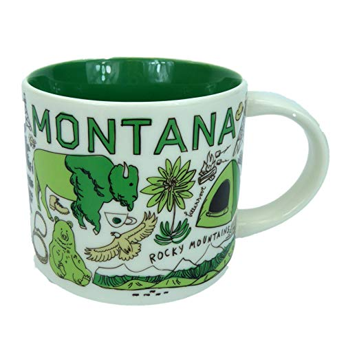 Starbucks MONTANA Been There Series Across the Globe Collection Coffee Mug 14 Ounce