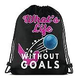What's Life Without Goals - Mochila con cordón para hockey sobre hierba