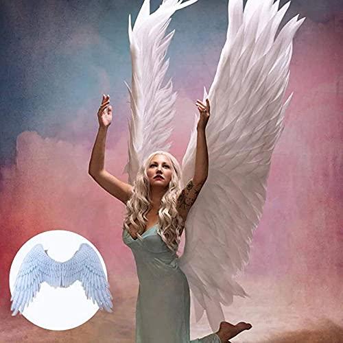 QKFON Alas de ángel de Halloween 3D, alas grandes, carnaval, fiesta de rendimiento, accesorio de disfraz de cosplay para mujeres y hombres, adecuado para Halloween, disfraz de mascarada