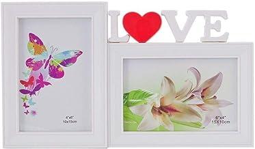 Porta Retrato Love Duplo 10x15 Square Branco PF-1032BR