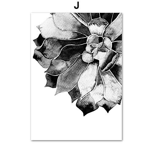 Geiqianjiumai Abstracte bloem vlinder blad citaat muur kunst Scandinavisch canvas poster en drukwand woonkamer decoratie zonder lijst schilderij