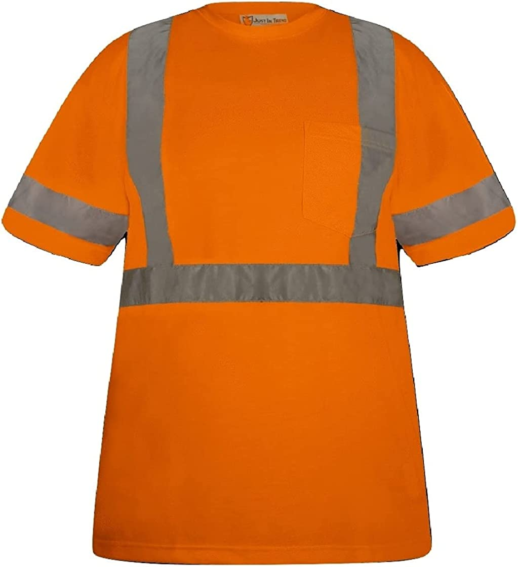 Just In Trend High Visibility Fluorescent T-Shirt - Max 74% OFF Safety Half service