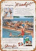 1956グレイスラインカリビアンクルーズコレクティブルウォールアート