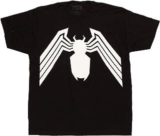 Marvel Venom Shirt Classic Spider Logo Adult Men's Graphic T-Shirt