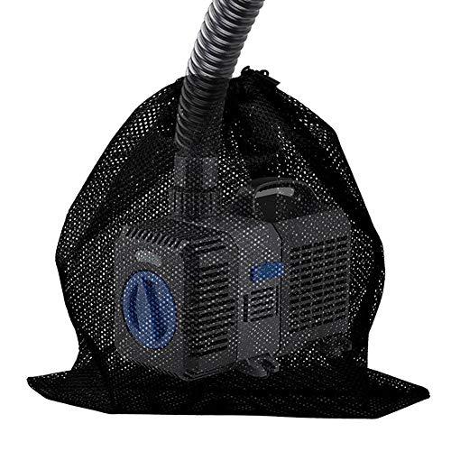 Netzbeutel, Filterbeutel für Teichpumpe Filterkorb Nylon Mesh Kordelzug mit Kordelzug Reißverschluss für erhindert das Eindringen von Schmutz geeignet für Camping Fitnessstudio Dusche Spielzeug